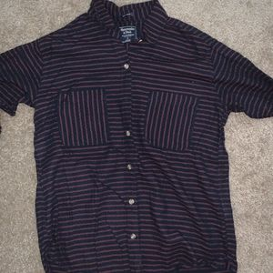Abercrombie and fitch king sleeve button up